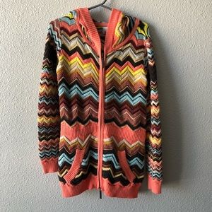 Missoni for Target Hooded Zip Up Sweater Girls XS